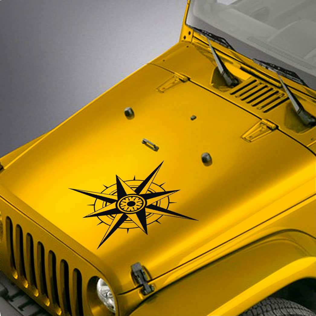 Compass Hood Decal Sticker – Fits Jeep Wrangler