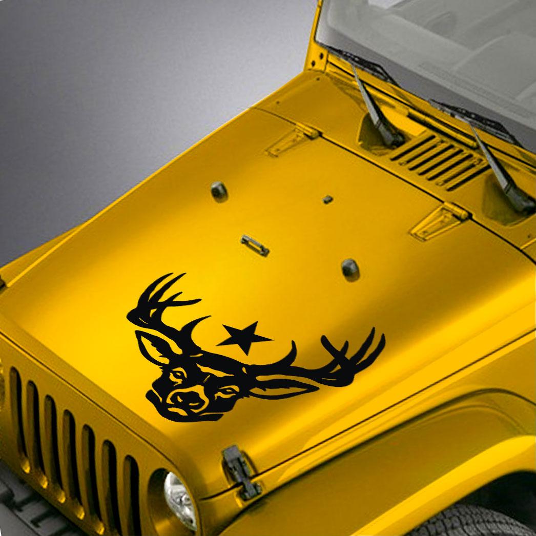 Deer Star Hood Decal Sticker – Fits Jeep Wrangler