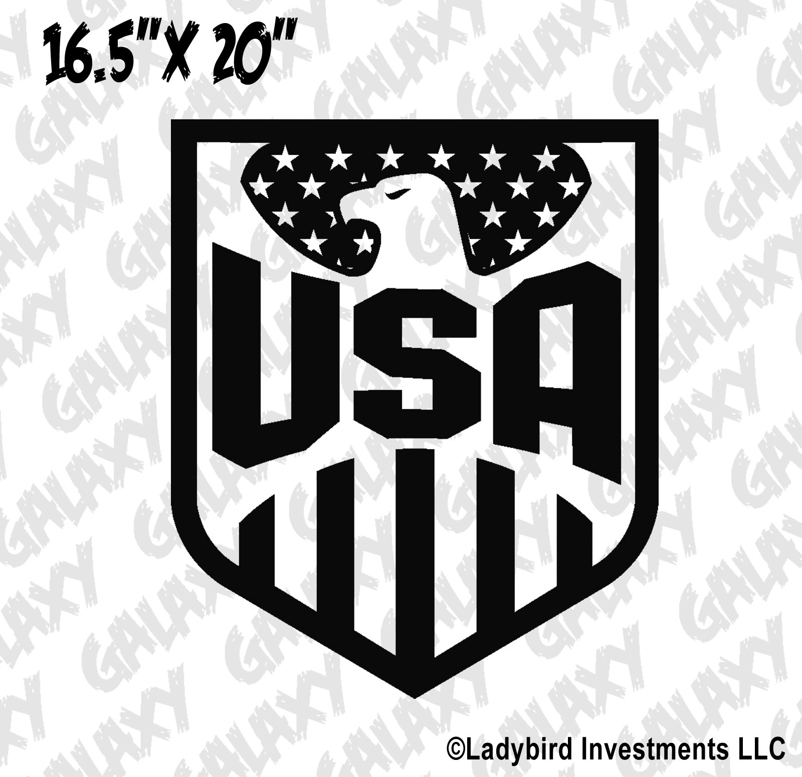 Tj Auto Sales >> Jeep Wrangler Hood Decal USA American Flag & Eagle Sticker ...