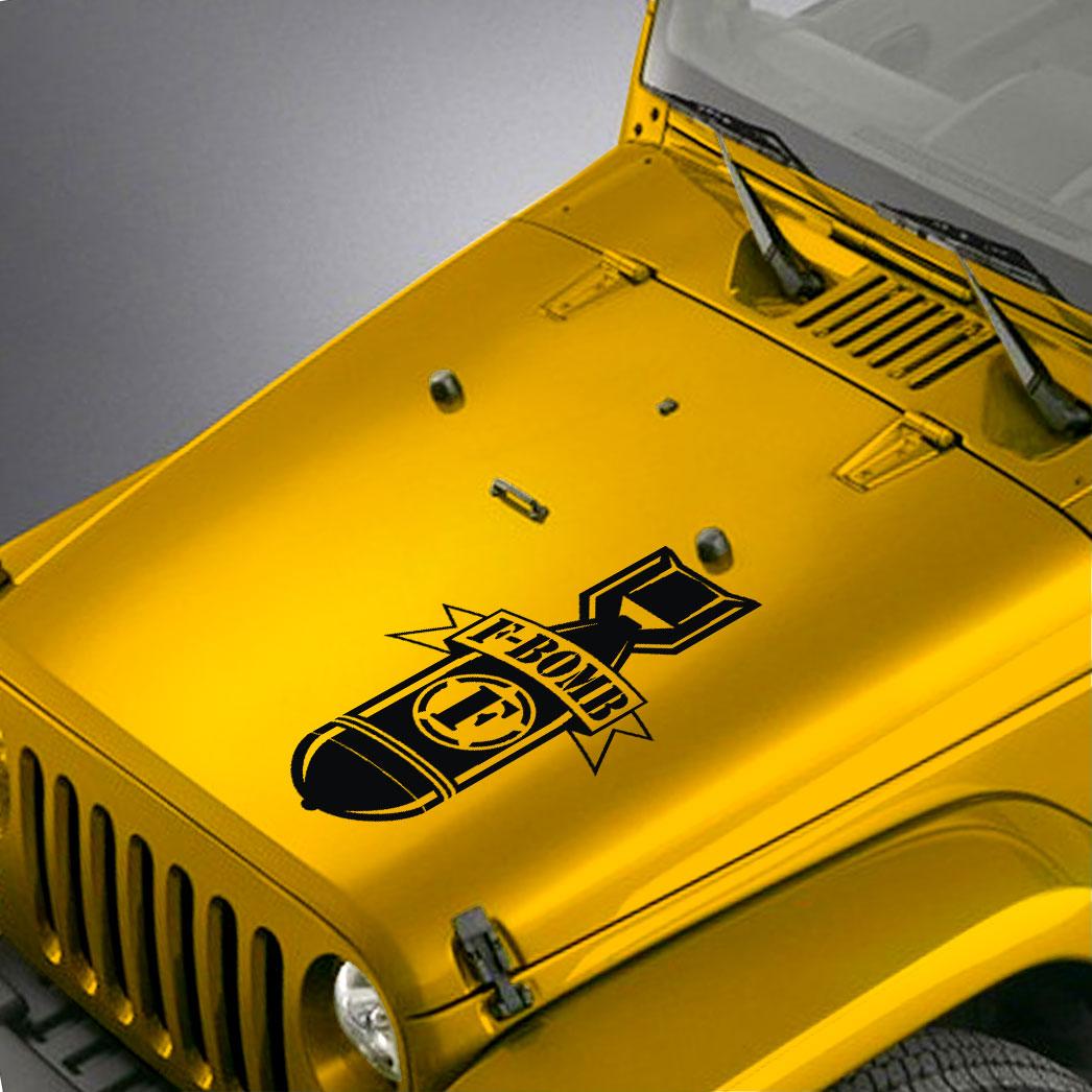 Jeep Wrangler Hood Decal F Bomb Sticker Skunkmonkey Release