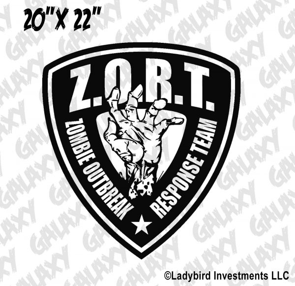 Jeep Wrangler Hood Decal Zombie Outbreak Response Badge Sticker  U2013 Skunkmonkey