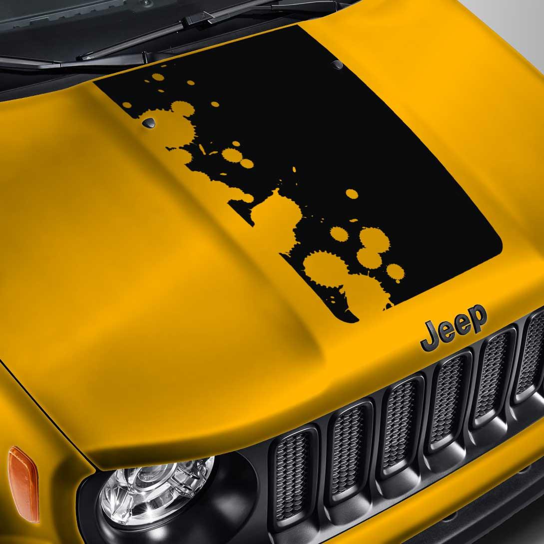 Blackout Splatter Hood Decal  – Fits Jeep Renegade